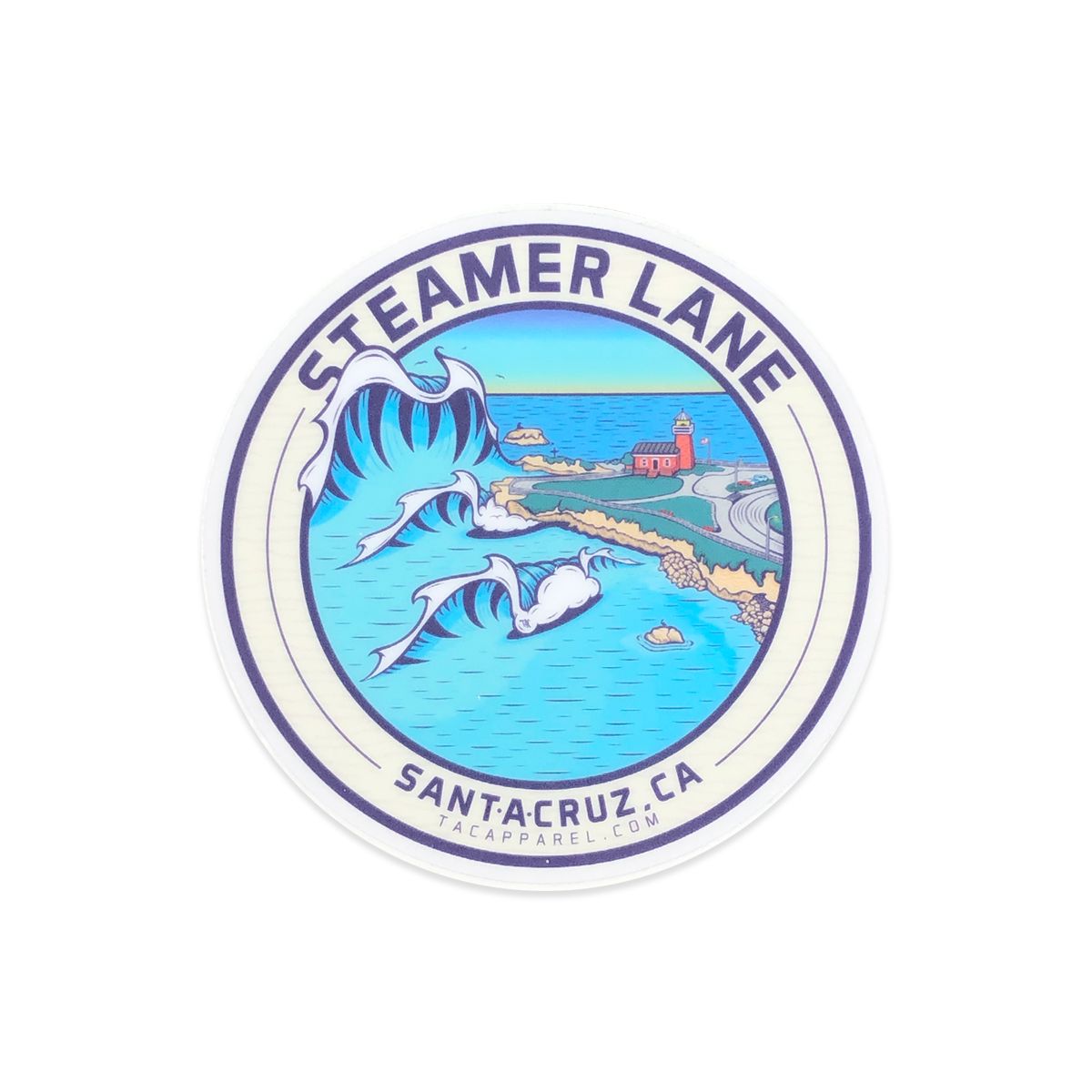 TAC Apparel Company Steamer Lane Santa Cruz Stickers