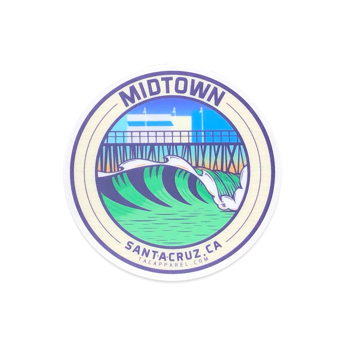 TAC Apparel Company Midtown Santa Cruz Stickers