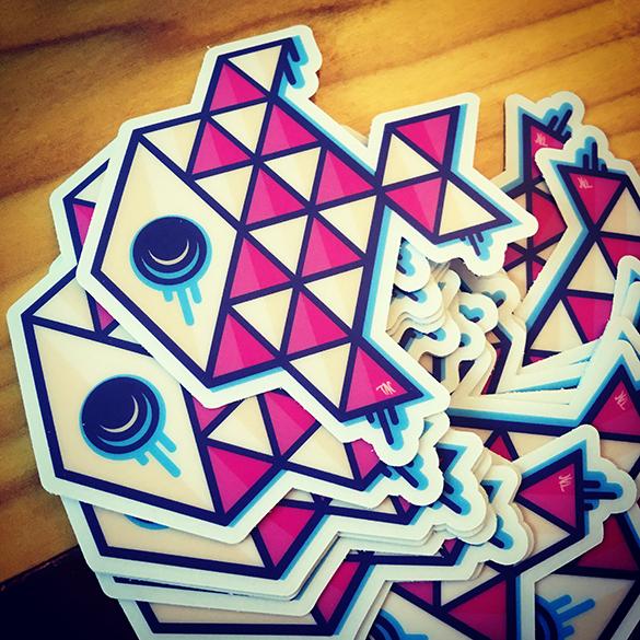 tac apparel fish stickers