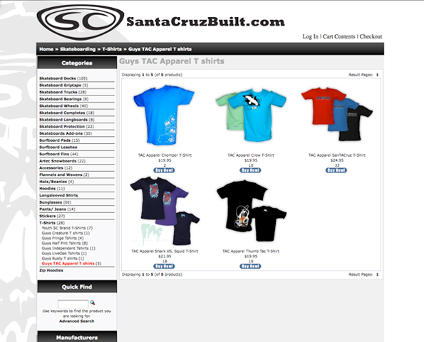 Santa Cruz Built rocks Tac Apparel