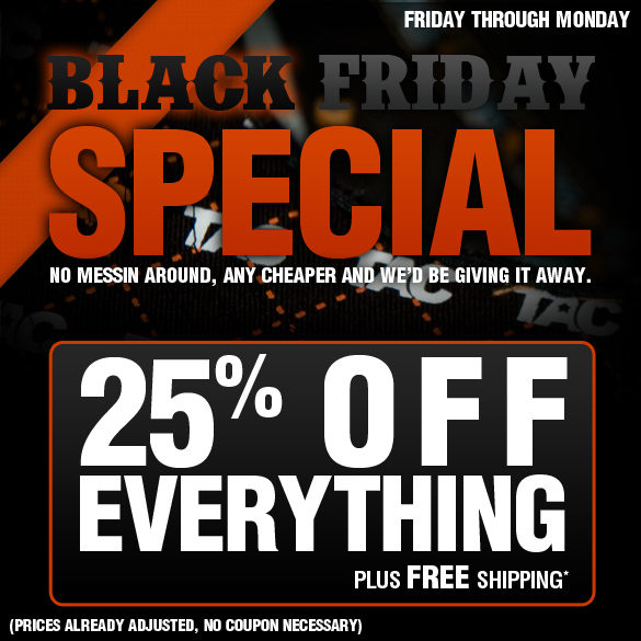 TAC Apparel - Black Friday Special!!! 25% Off Everything!!! FREE SHIPPING!!!!