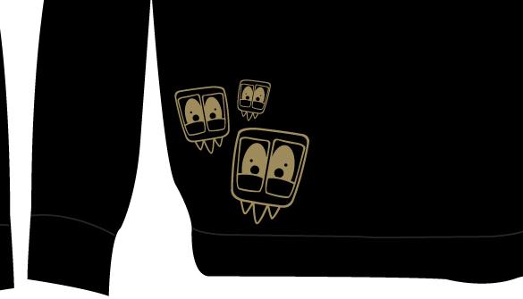 TAC - Logo zipup hoodie back close up