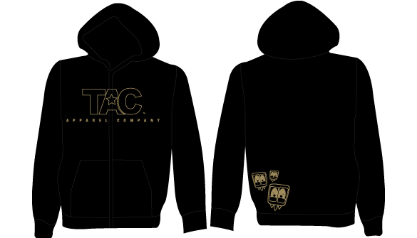TAC - Embroidered Zipup Hoodie